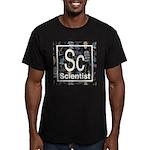 Scientist Retro Men's Fitted T-Shirt (dark)