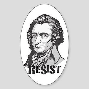 Thomas Paine: Resist Oval Sticker