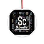 Scientist Retro Ornament (Round)