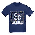 Scientist Retro Kids Dark T-Shirt