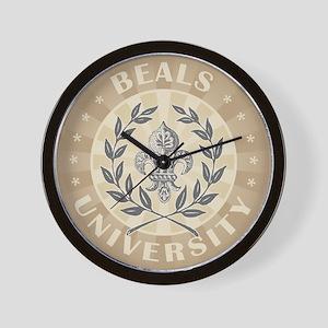 Beals Last Name University Wall Clock