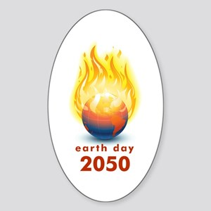 'Earth Day 2050' Oval Sticker