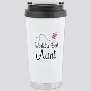 World's Best Aunt Stainless Steel Travel Mug