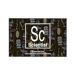 Scientist Retro Rectangle Magnet