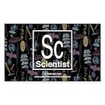 Scientist Retro Rectangle Sticker 50 pk)