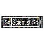 Scientist Retro Bumper Sticker (50 pk)