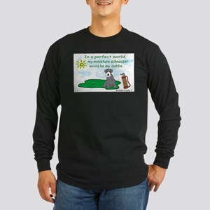 mini schnauzer Long Sleeve Dark T-Shirt