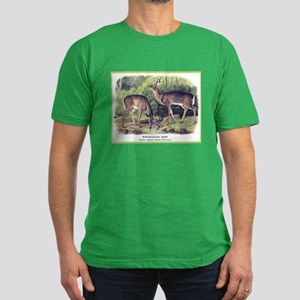 Audubon White-Tailed Deer (Front) Men's Fitted T-S