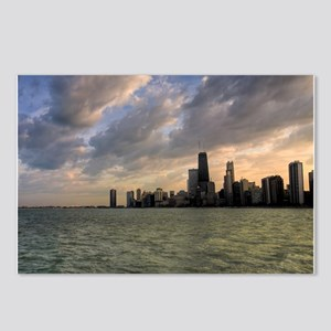 Chicago Skyline 4 Postcards (Package of 8)