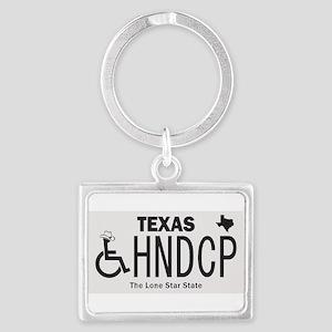 Texas Handicap Plate Keychains