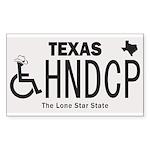 Texas Handicap Plate Sticker