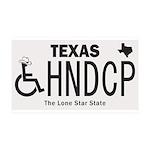 Texas Handicap Plate Wall Decal