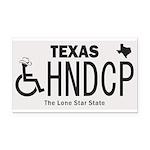 Texas Handicap Plate Rectangle Car Magnet