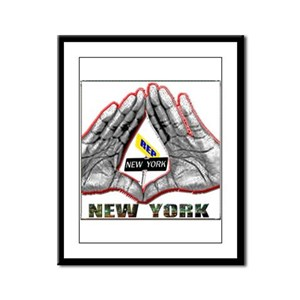 REP NY ROC SIGN Framed Panel Print
