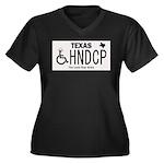 Texas Handicap Plate Plus Size T-Shirt