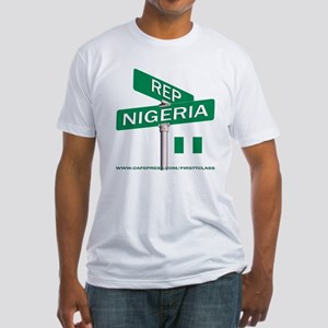 REP NIGERIA Fitted T-Shirt