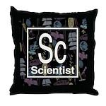 Scientist Retro Throw Pillow