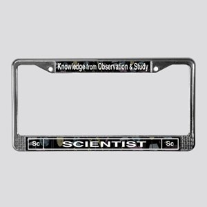 Scientist Retro License Plate Frame