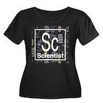 Scientist Retro Women's Plus Size Scoop Neck Dark