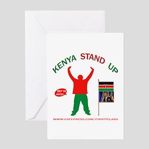 REP KENYA Greeting Card