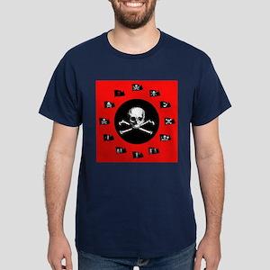 Red Pirate- Jolly Roger Dark T-Shirt