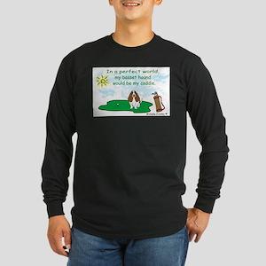basset hound Long Sleeve Dark T-Shirt