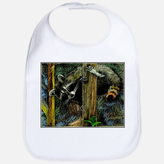 Rambling Raccoon Baby Bib
