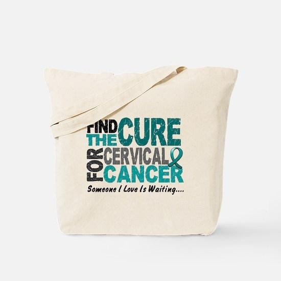 Find The Cure 1 Cervical Cancer Tote Bag
