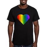 Gay Pride Rainbow Love Men's Fitted T-Shirt (dark)
