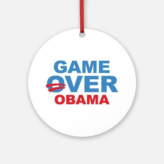 Anti Obama Game Over Ornament (Round)