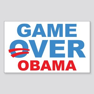 Anti Obama Game Over Sticker (Rectangle)