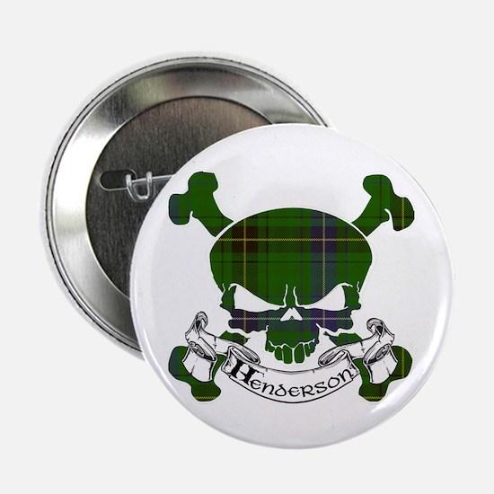 "Henderson Tartan Skull 2.25"" Button"
