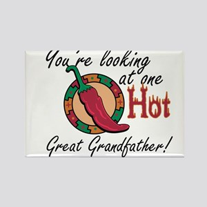 One Hot Great Grandfather Rectangle Magnet