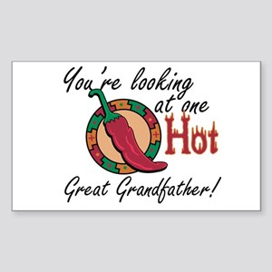 One Hot Great Grandfather Rectangle Sticker