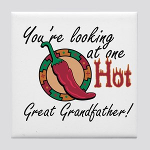 One Hot Great Grandfather Tile Coaster