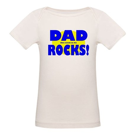 Dad (likes scotch on the Rock Organic Baby T-Shirt