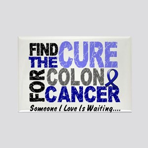 Find The Cure Colon Cancer Rectangle Magnet