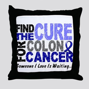 Find The Cure Colon Cancer Throw Pillow
