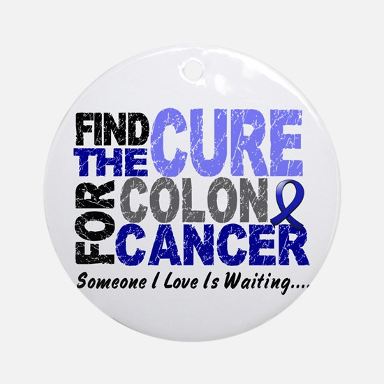 Find The Cure Colon Cancer Ornament (Round)