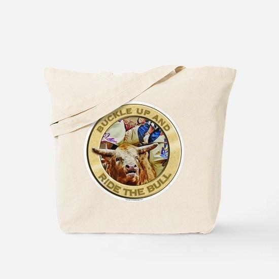 Bull Buckle Tote Bag