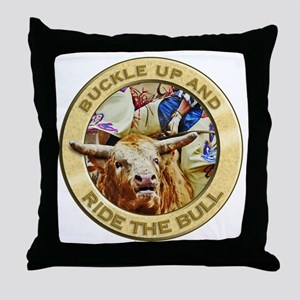 Bull Buckle Throw Pillow