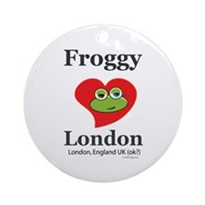 Froggy Loves London Ornament (Round)
