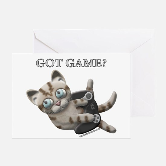 Got Game Kitten Greeting Card