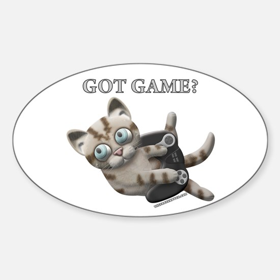 Got Game Kitten Oval Decal