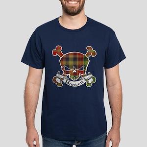 Hunter Tartan Skull Dark T-Shirt