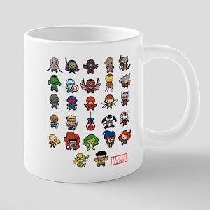 Marvel Kawaii Heroes Light 20 oz Ceramic Mega Mug