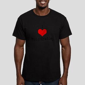 I Love MotorBoating Men's Fitted T-Shirt (dark)