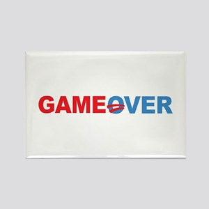 Anti Obama Game Over Rectangle Magnet