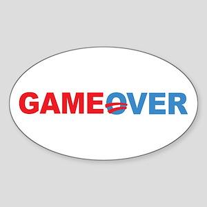 Anti Obama Game Over Sticker (Oval)