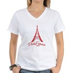 Paris France Original Merchan Women's V-Neck T-Shi